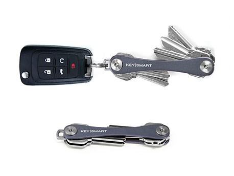 KeySmart Compact Keyholder Slate Poly