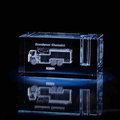Laser in glas Penhouder