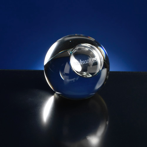 Presse papier van glaskristal
