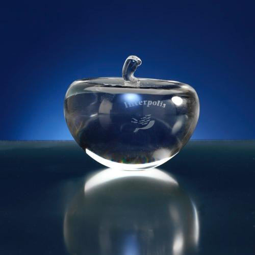 Presse papier appel vorm van glas