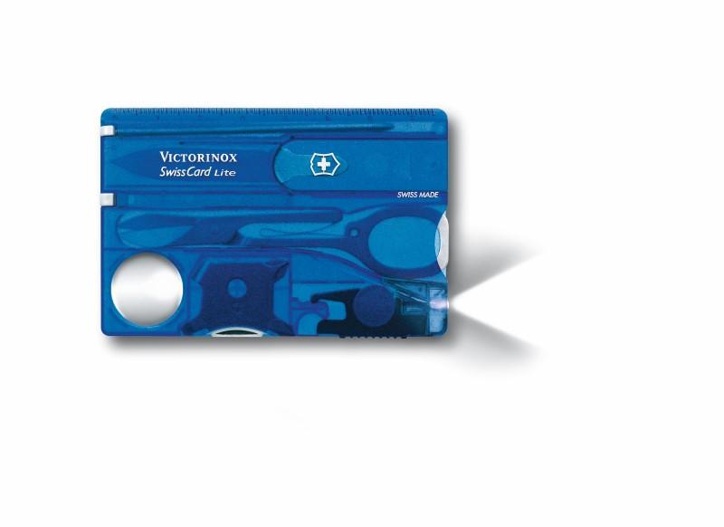 Multitool 'SwissCard Lite' blauw - Victorinox