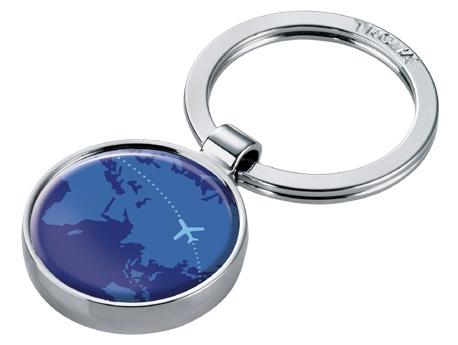 Sleutelhanger rond 'AROUND THE WORLD' - Troika