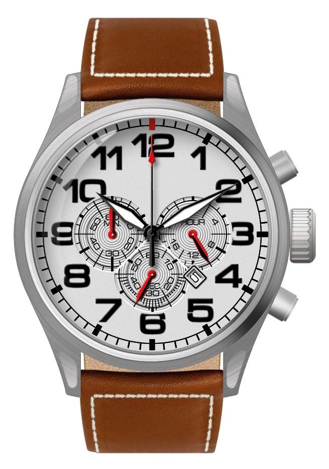 Chronograaf herenhorloge Hatman wit