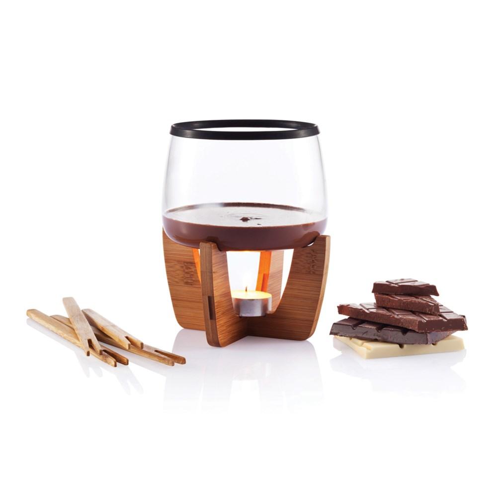 Cocoa chocolade fondue set, zwart