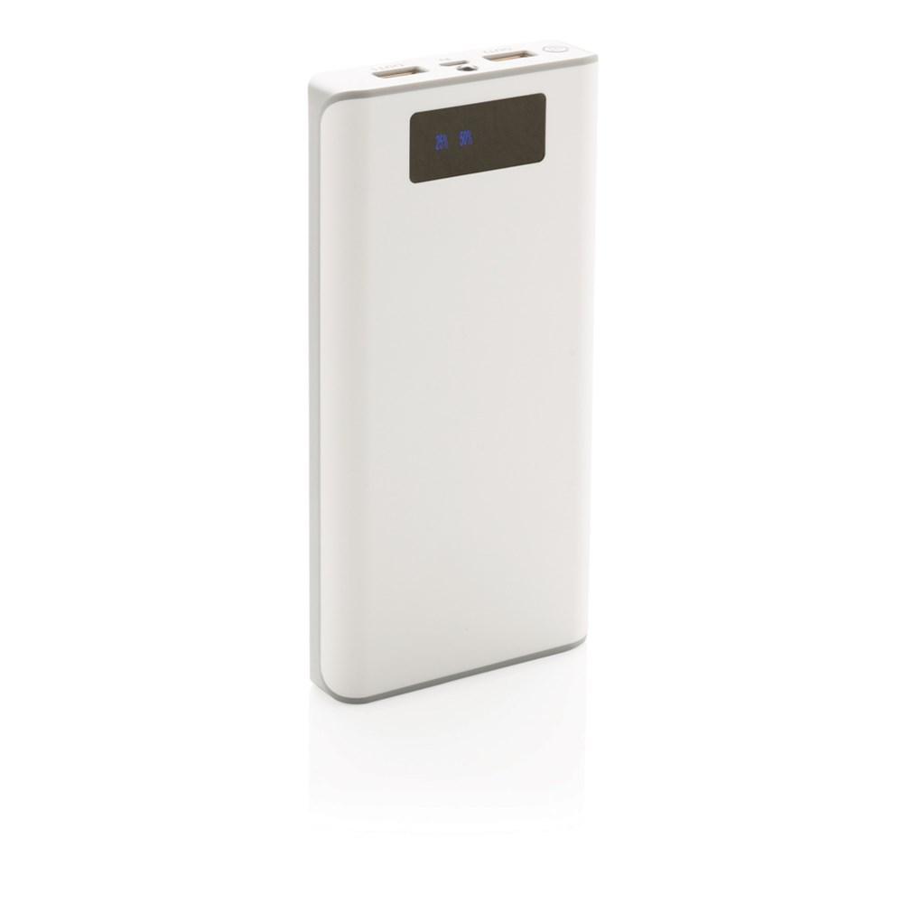 20000 mAh powerbank met display, wit