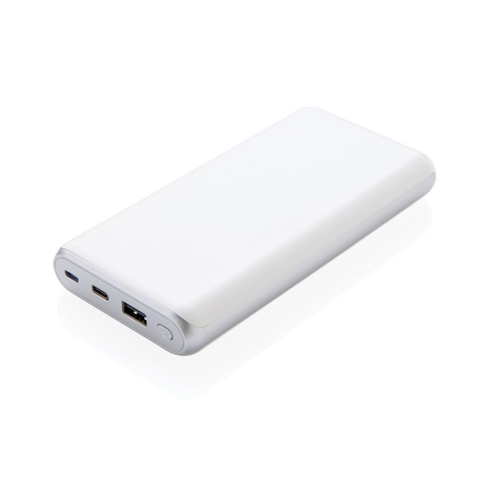 Ultra snelle 20000 mAh powerbank met PD, wit