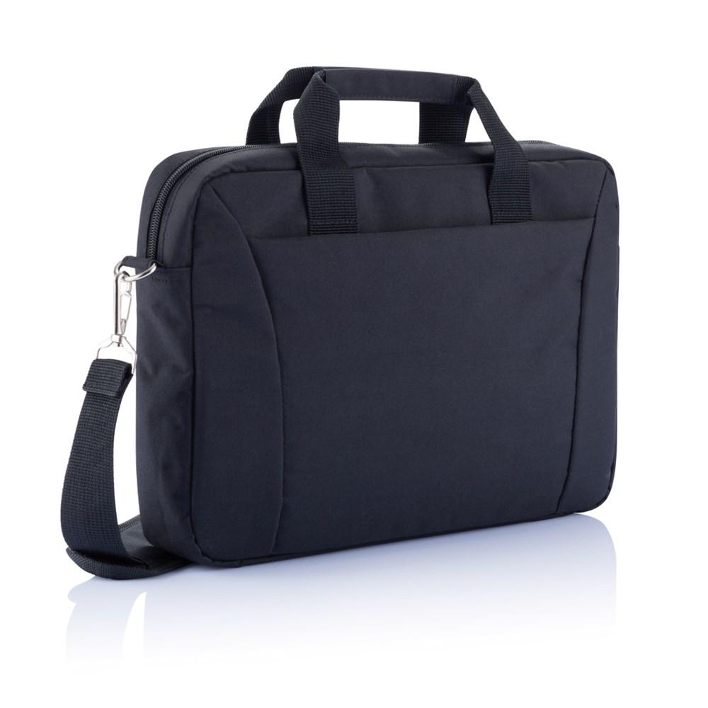 "PVC vrije 15,4"" exhibition laptop tas, zwart"