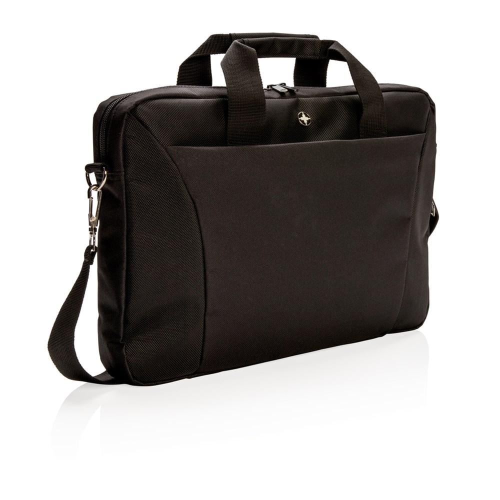 """Slim 154"""" laptop tas, zwart"""