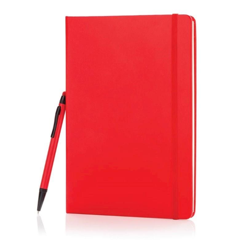 A5 hardcover notitieboek met touchscreen pen, zwart