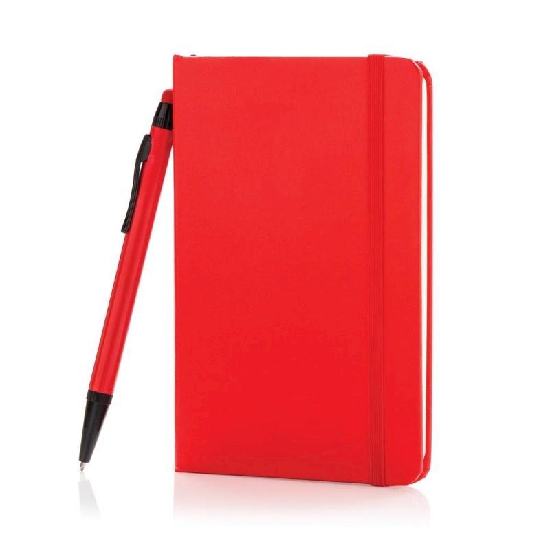 A6 basic hardcover notitieboek met touchscreen pen, zwart