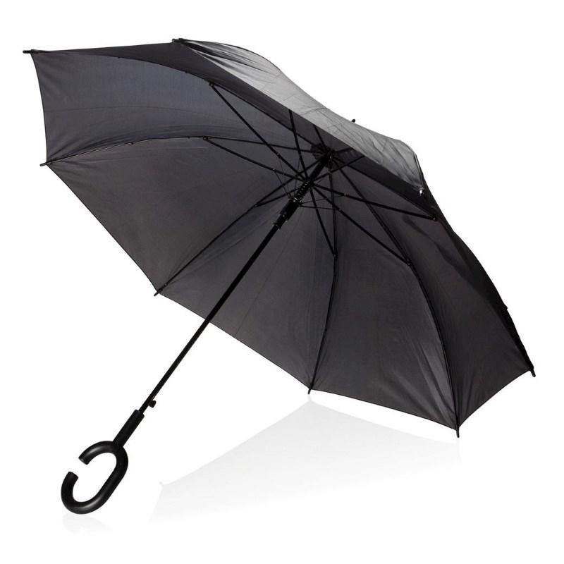 """23"""" handsfree paraplu, zwart"""