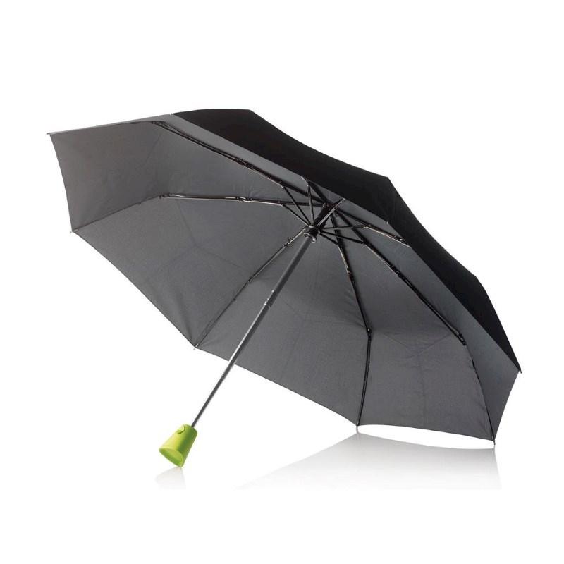 "21,5"" Brolly 2-in-1 auto opensluit paraplu, zwart"