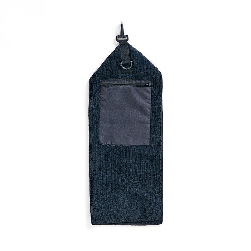 Golfhanddoek, zwart