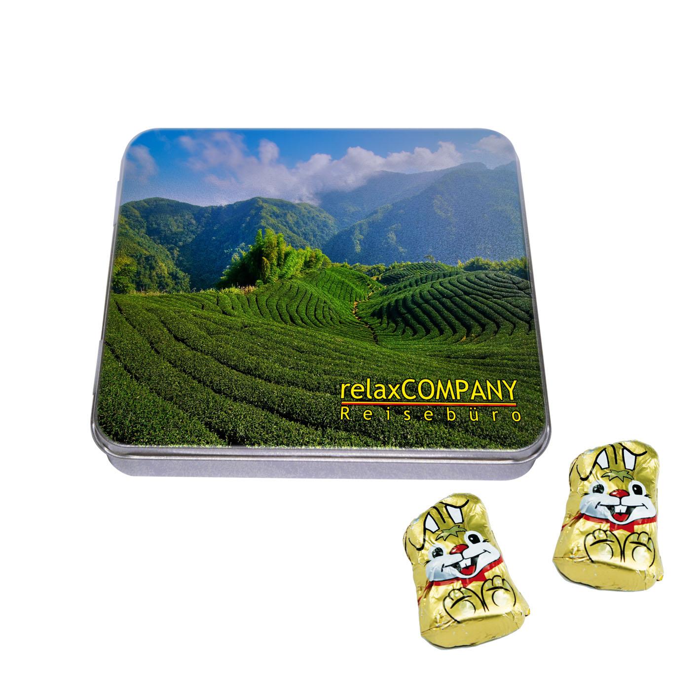 Chocolate in Premium-Box, chocoalte bunnies, 1-col
