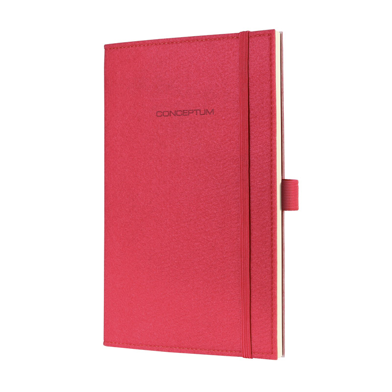 Notebook CONCEPTUM?, Felt, coral red, Softcover, n