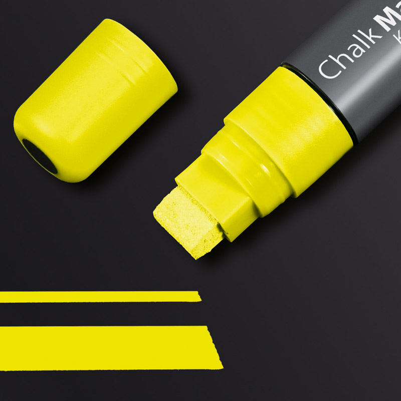Chalk Marker 150, chisel tip 5-15 mm , yellow, eas