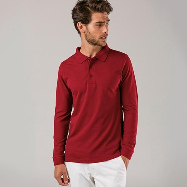BERN BERN Polo hemd met lange mouwen voor mannen