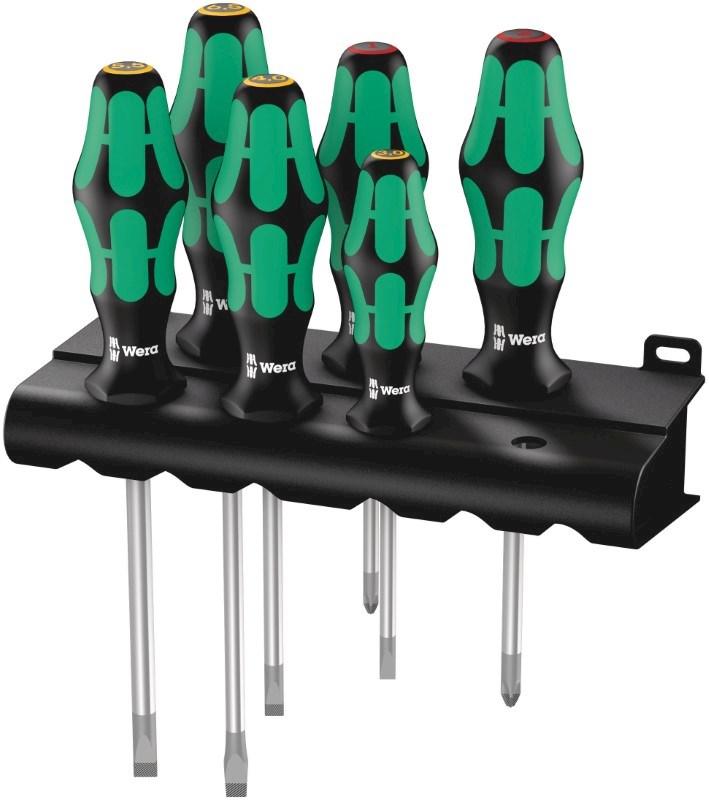 334/6 Schroevendraaierset Kraftform Plus Lasertip