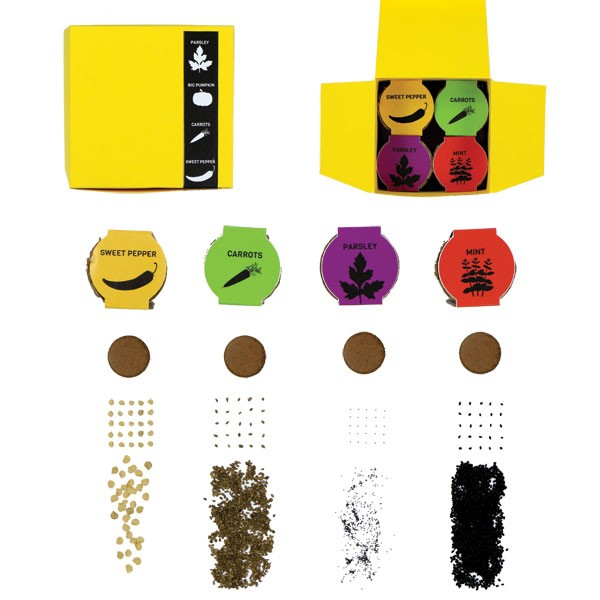 Kleurenkubus met zaad