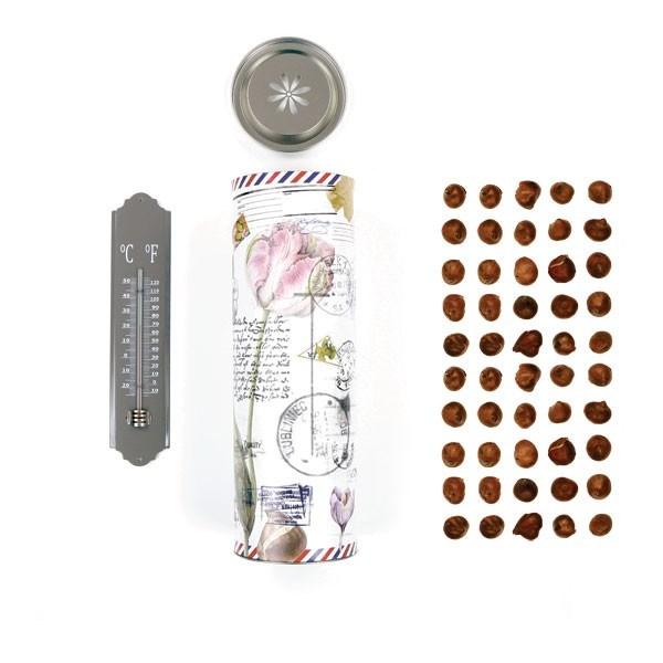 Koker XL met tulpen thermometer