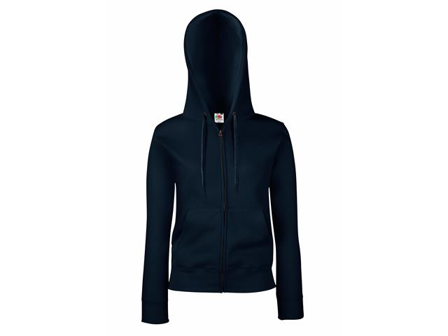 Lady-Fit Hooded Sweat Jacket (Upgrade) Fruit of the loom
