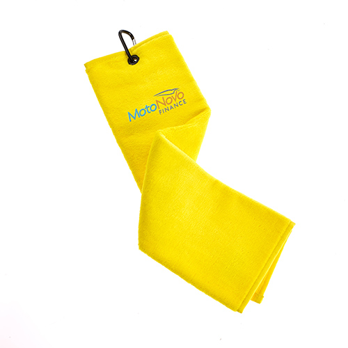 Trifold Velour Golf Towel Yellow