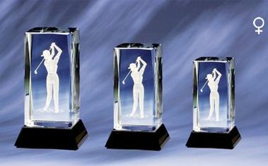 Cristal Lady Golf Award 9 Cm