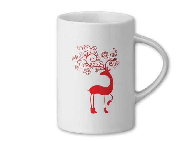 ENKO CHRISTMAS ,Keramische mok met kerst motief Inhoud 280 ml