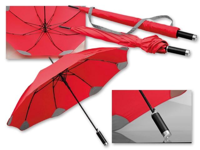 PULA ,Paraplu van polyester met automatische opening, plastic handvat en zakje, 8 panelen