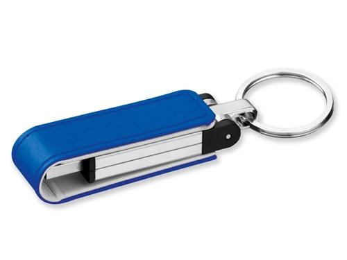USB FLASH 46, USB FLASH 4 GB metalen and kunstleer, 20