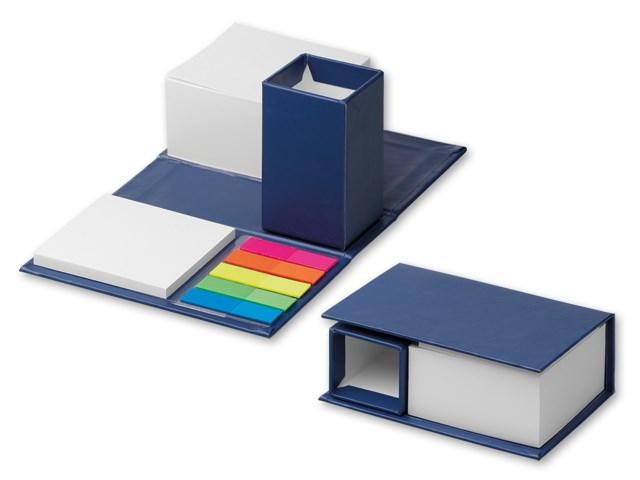 SHENNA ,Zelfklevend notitieblokje met potlood op een vouwende document kubushouder Bevat wit papier van 7,5x7,5 cm (380 vellen), neonstickers (25 vellen kleur), 6,8x7,4 cm (50 vellen) wit zelfklevend papier