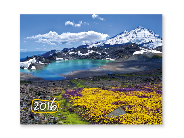 MOUNTAINS, Mountains wall calendar, 32x46 cm