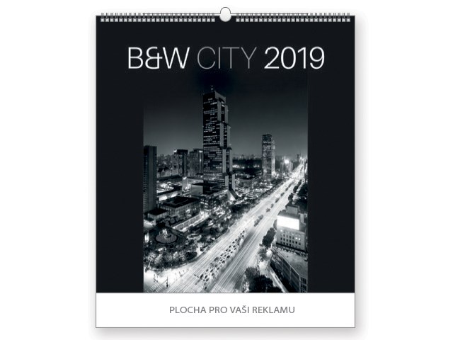 B&W CITY, wall calendar, 45x48cm