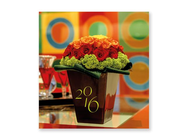 FLOWERS, wall celendar, 45x48 cm