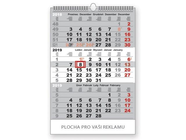 3-MONTH STANDARD WALL CALENDAR, 3-M wall calendar,