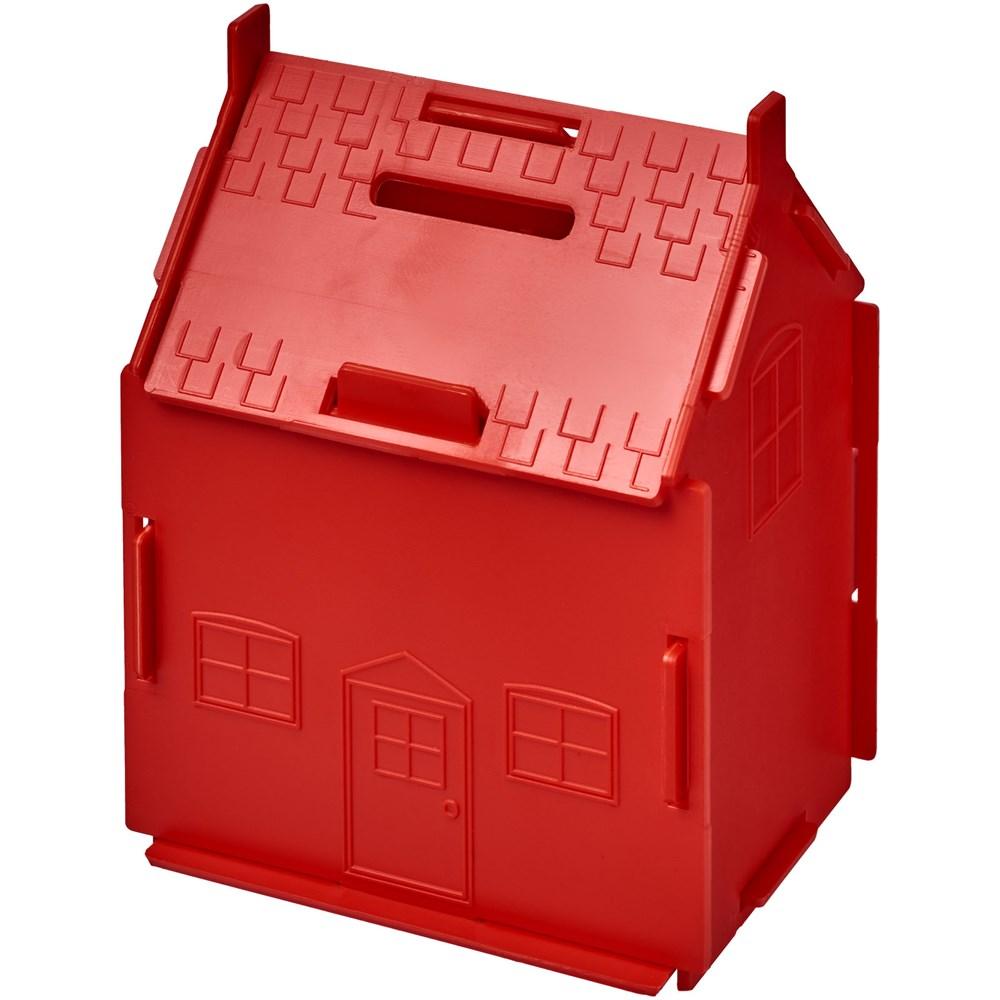 Unit kunststof spaarpot in de vorm van een huis