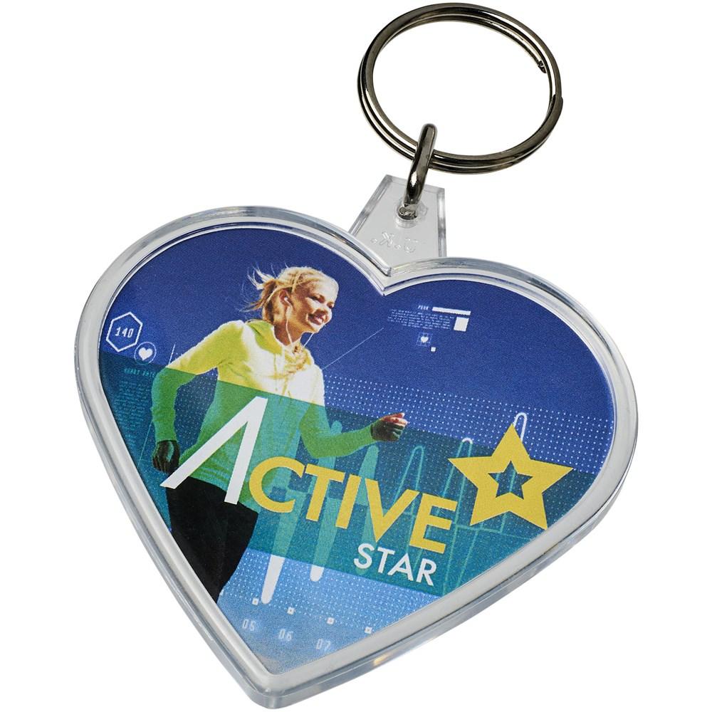 Combo hartvormige sleutelhanger