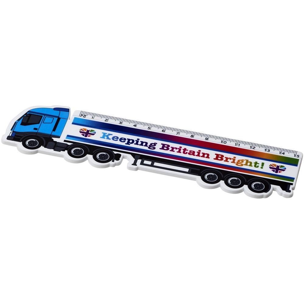 Loki 15 cm kunststof liniaal met vrachtwagenvorm