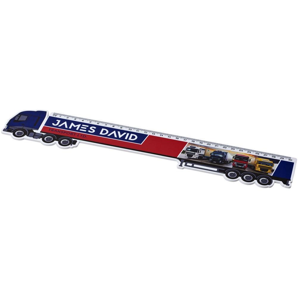Loki 30 cm kunststof liniaal met vrachtwagenvorm