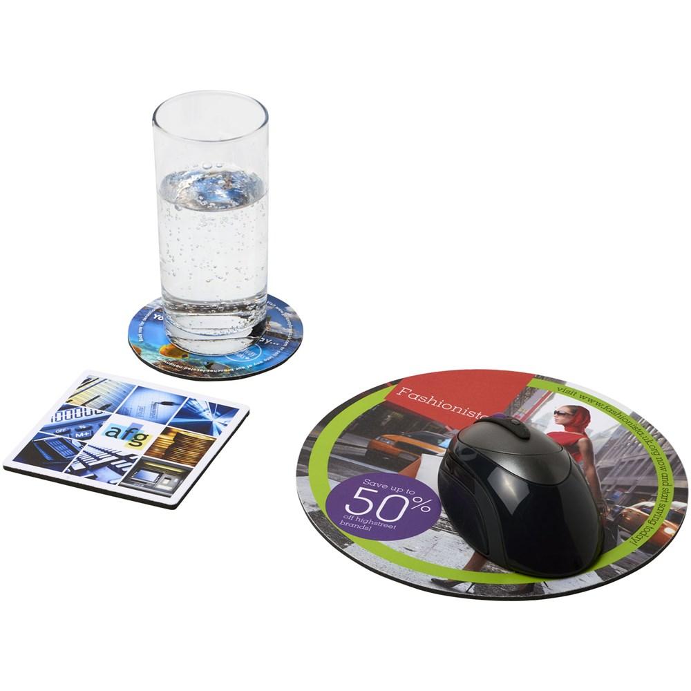 Q-Mat® zesdelige combiset van muismat en onderzetter 4