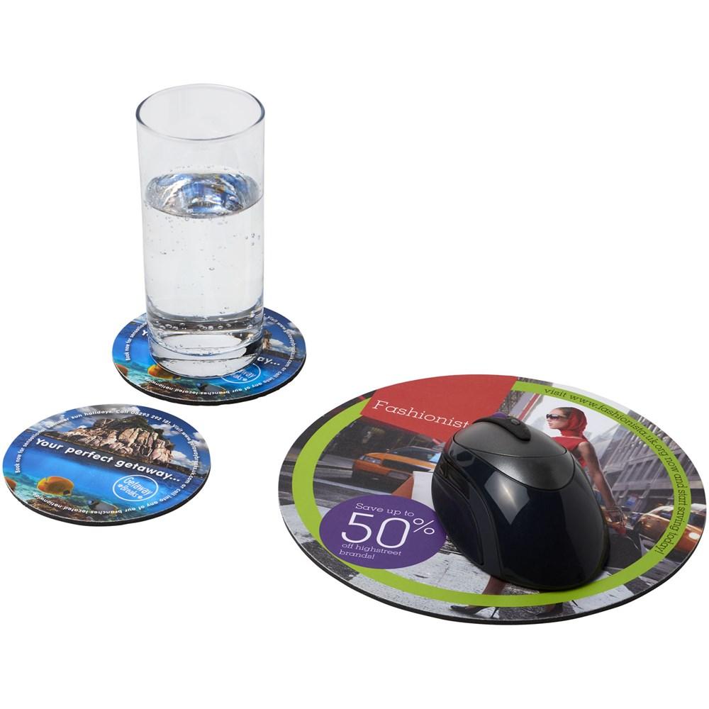 Q-Mat® zesdelige combiset van muismat en onderzetter 5
