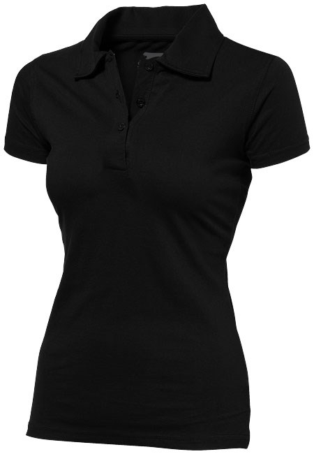 Let short sleeve women's jersey polo