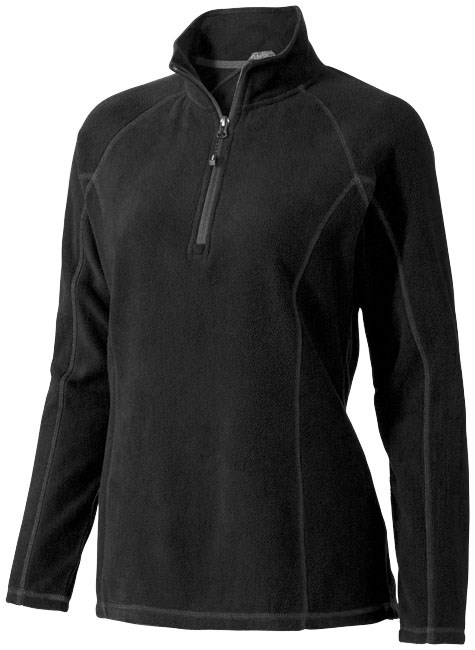 Bowlen dames microfleece sweater met kwart rits