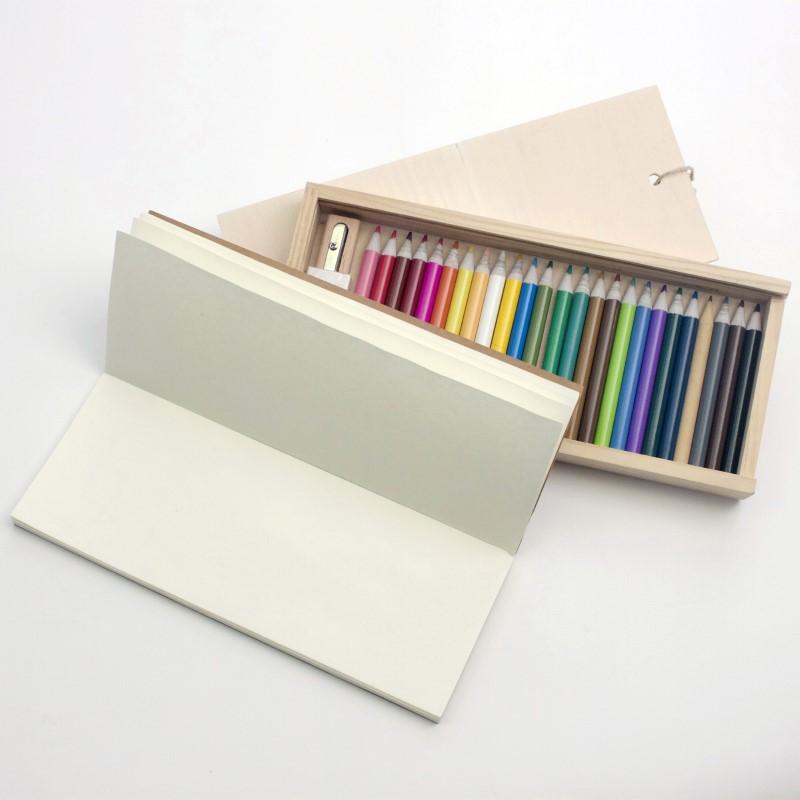 WOODYWOOD -  Set met 25 kleur potloden