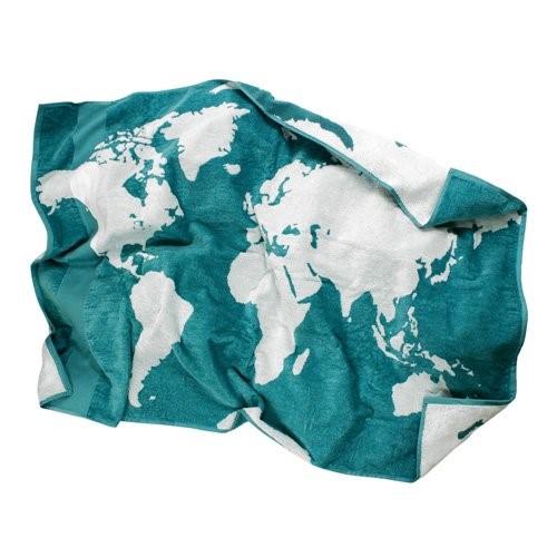 BIOPLANET - Badhanddoek met globe motief