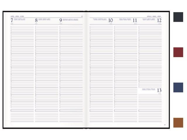 Voyager A4 Vivella bureau agenda