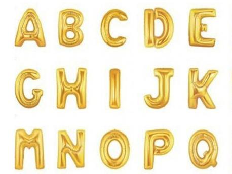 Folieballonnen letter 'Q' (goud)