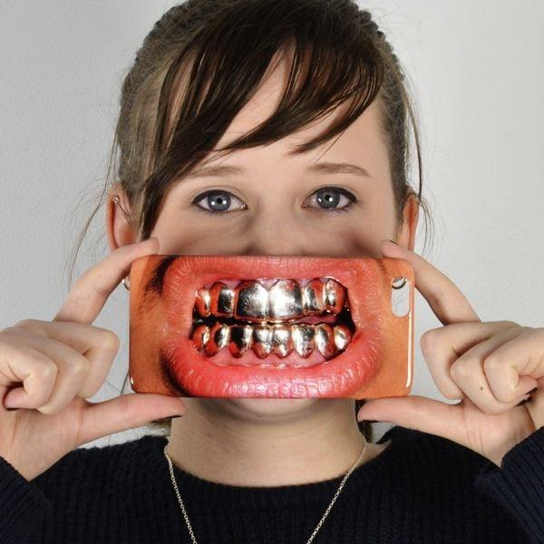 Gouden Tanden Telefoonhoesje