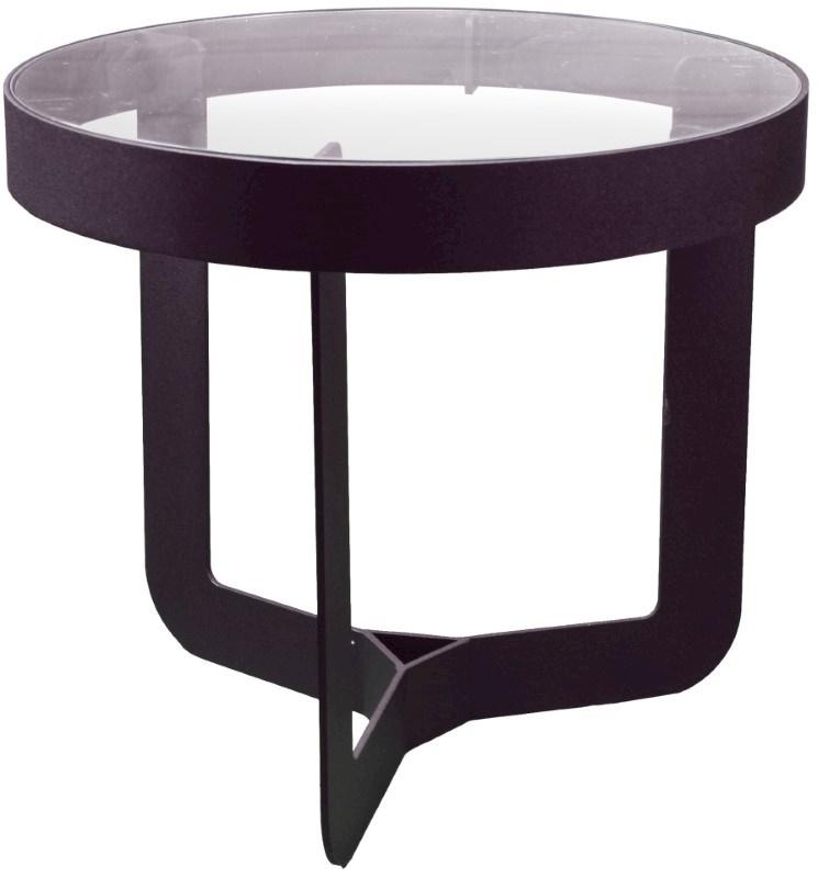 Spinder Design Douglas 2 Bijzettafel ø 41x40 - ZwartTransparant Glas