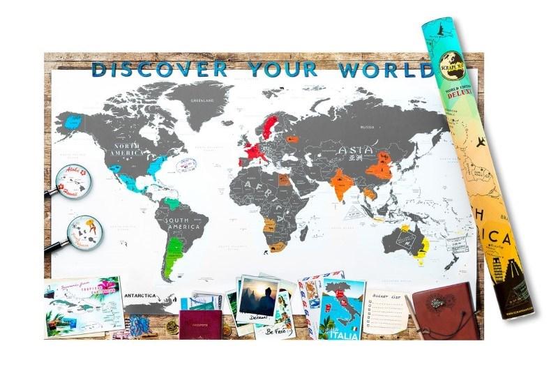 Scrape Map Wereld Editie Deluxe